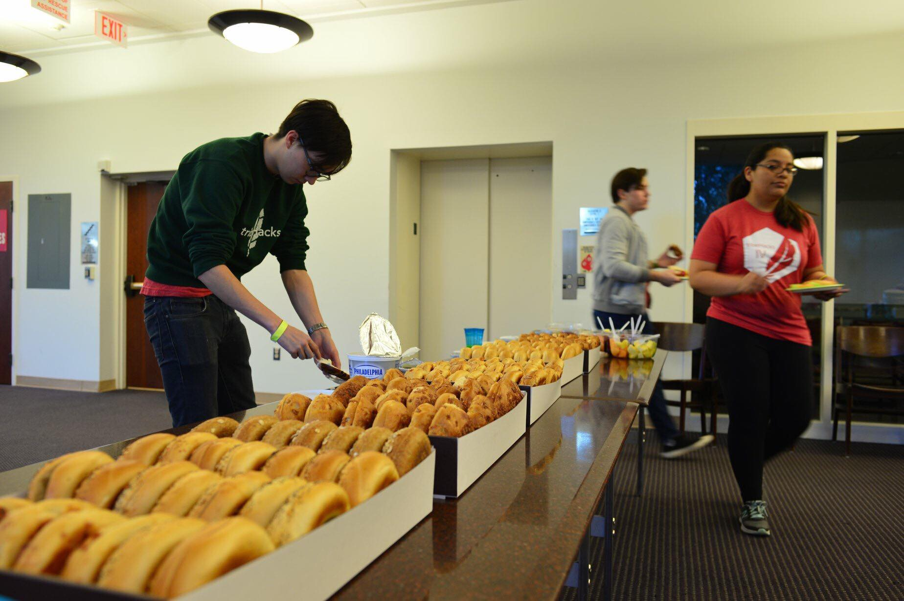 Delicious bagels for Cypher attendees